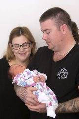Emma and Daniel Millar welcomed Remi Frances into the world at Wollongong Hospital on Monday.