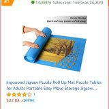 This mat allows an unfinished puzzle to be rolled up and put away is topping the sales of hot items in toys and games for amazon.com.au.