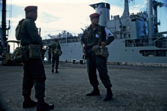 Peacekeepers arrive.
