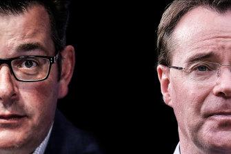 Premier Dan Andrews and Opposition Leader Michael O'Brien.