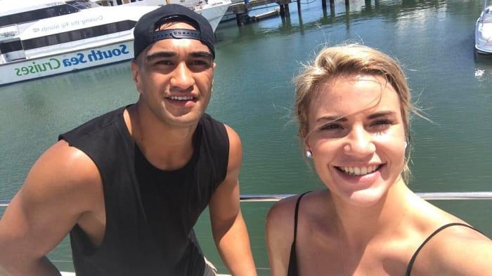 Inspiration: Marata Niukore says his partner, Nikki Johns, has inspired him.
