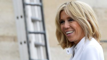 French first lady Brigitte Macron.