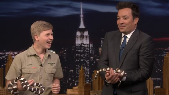 Robert Irwin wins over US viewers in viral late night appearance