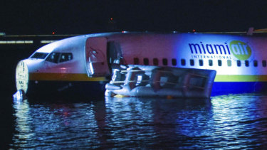 The plane was attempting to land during a storm.