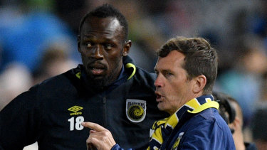 Happy campers: Mike Mulvey says he has no problems with how the Central Coast Mariners have dealt with Usain Bolt.