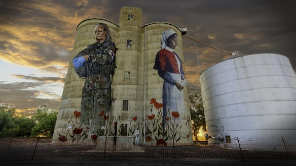 On the eve of Anzac Day, war mural steals a town's heart