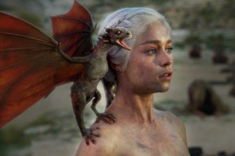 Emilia Clarke as Daenerys Targaryen, the mother of dragons.