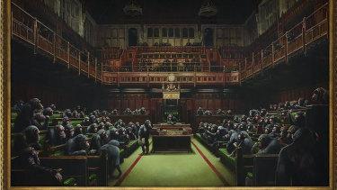 Banksy's 'Devolved Parliament'.