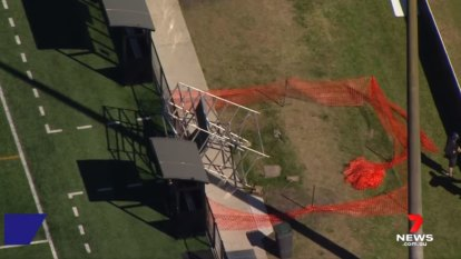 Man dies after being crushed by scaffolding at Brisbane football club