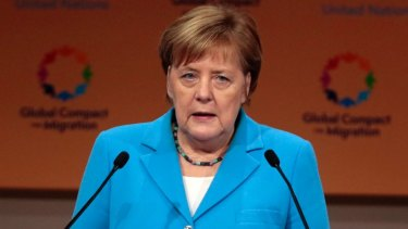 German Chancellor Angela Merkel is among the victims of the hack.