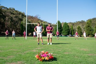 The Manly Sea Eagles honoured Keith Titmuss by hosting a memorial service at their training ground in Narrabeen.
