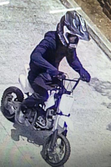 Police investigating the murder of a man in Bossley Park are calling for anyone who saw a mini-motorbike rider in the area.