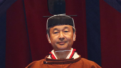 New Emperor Naruhito ascends ancient throne