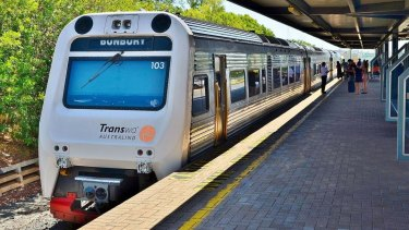 The Australind service from Perth to Bunbury.