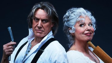 Anthony Warlow and Gina Riley in Sweeney Todd: A Musical Thriller.