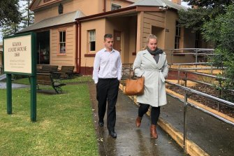 Thomas Harris leaves Kiama Local Court after being sentenced on Tuesday.