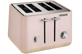 "Morphy Richards ""Scandi Wooden Trim 4 slice"" toaster."