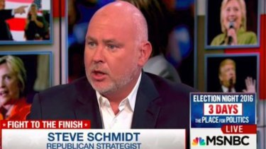 Steve Schmidt, a veteran Republican party strategist, is one of the co-founders of the Lincoln Project.