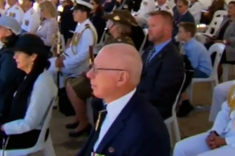 The ABC's edited version of the event incorrectly suggested thatGovernor-General David Hurley was one of the dignatories watching the routine.
