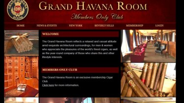 The Grand Havana Room bills itself online as a members only cigar club.