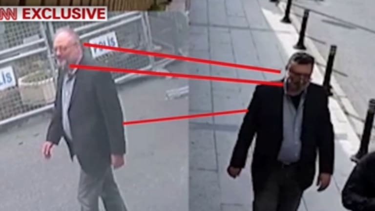 It's believed a 'body double', right, dressed in Khashoggi's clothes and walked around Istanbul after his death.