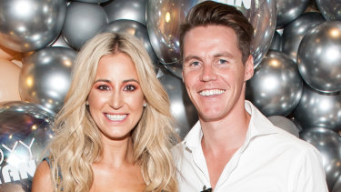 Roxy Jacenko and her husband Oliver Curtis in February.