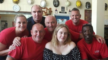 Adele met firefighters at Chelsea Fire Station following the Grenfell Tower blaze in 2017.