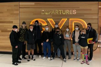 The group of 11 Australian skaters, as well as staff, flew out from Sydney on May 3 to California before travelling to the Dew Tour in Iowa in an effort to qualify for the Olympics.