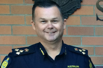 Matt Stock during his time as an Australian Border Force commander.