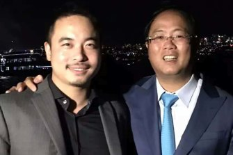 Ryde deputy mayor Simon Zhou, left, with controversial Chinese political donor Huang Xiangmo.