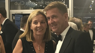 Tim Worner and his wife Katrina at the Longines event.