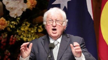 Bill Kelty tells memorial service how Bob Hawke fixed the economy