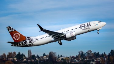 Fiji Airways uses the Boeing 737 MAX planes on services from Nadi to Adelaide, Sydney, Brisbane and Melbourne.