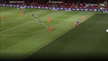 Hawk-Ire: Sydney FC's Kosta Barbarouses had this goal disallowed for offside.