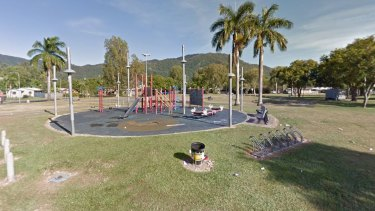 Shang Park in the Cairns suburb ofMooroobool, where a 12-year-old boy died on Thursday night.