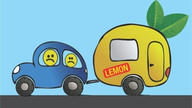 """The image used on the """"Lemon Caravans & RVs in Aus"""" Facebook group."""