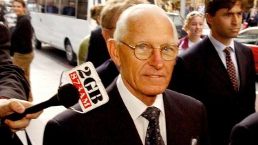 HIH founder Ray Williams attends the royal commission into the collapse of the insurance giant in 2002.
