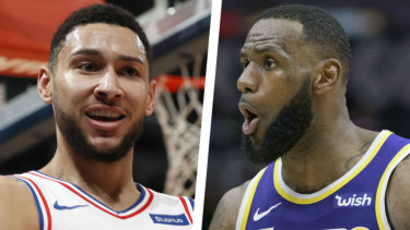 Big time: A showdown between Ben Simmons and LeBron James would be a rare treat.