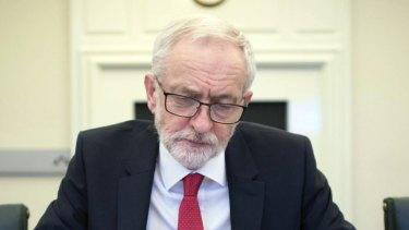 Britain's Labour leader Jeremy Corbyn: Boris says he can beat him.