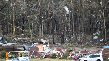 An Axe Creek house has been destroyed by what is believed to have been a tornado.