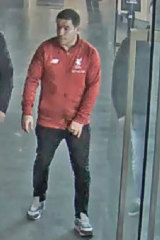 Police are seeking this man in relation to a brawl at Etihad Stadium last weekend.