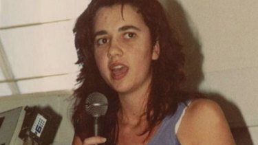 Future Queensland premier Annastacia Palaszczuk speaks as a student at the University of Queensland in Brisbane in 1989.