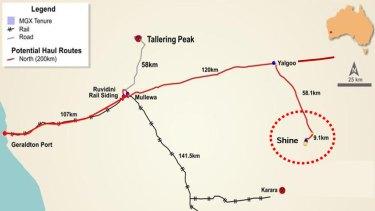 Shine iron ore mine is a 300-kilometre road trip from Geraldton Port.