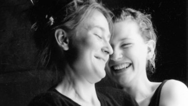 Caroline Lee and Cate Blanchett in The Woodbox at La Mama theatre in Melbourne, 1989. Lee and Blanchett co-wrote and performed the play.
