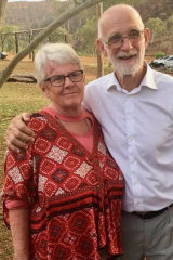 Mike Bowden with his wife Judy.