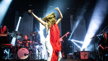 Maggie Rogers performs at Festival Hall.