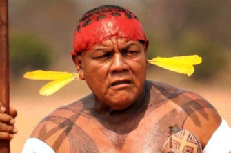 Victim of COVID-19: Aritana Yawalapiti, Indigenous chief of the Yawalapitipeople of the Xingu, Amazon state, in Brazil.