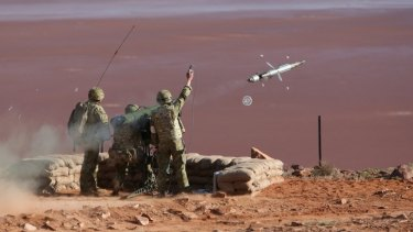 Live firing of an RBS-70 missile at the Woomera test range.  The new capability will replace the ageing system.