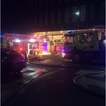 Fire crews extinguished a blaze inside the Vibe Hotel at Canberra Airport on Sunday night.