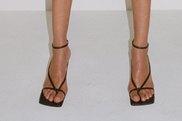 Bottega Veneta's square-toe shoes have become a cult favourite in the fashion set.
